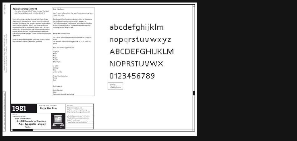 Xerox Star 8010 display fonts