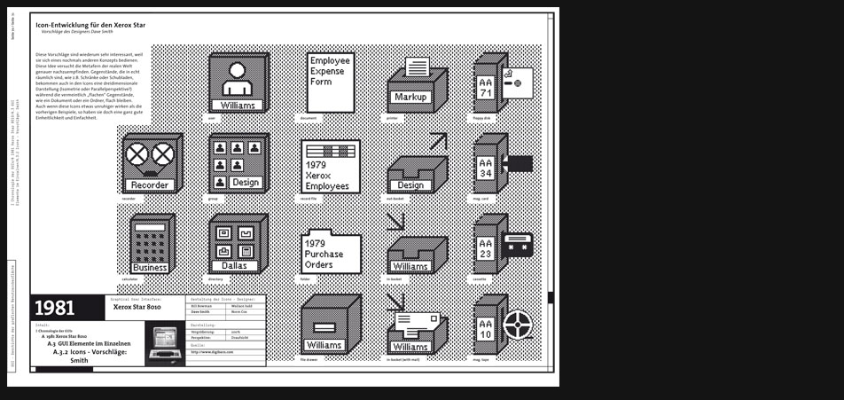 Xerox Star 8010 icons