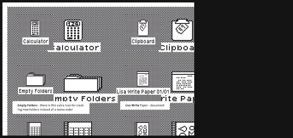 Apple Lisa icons