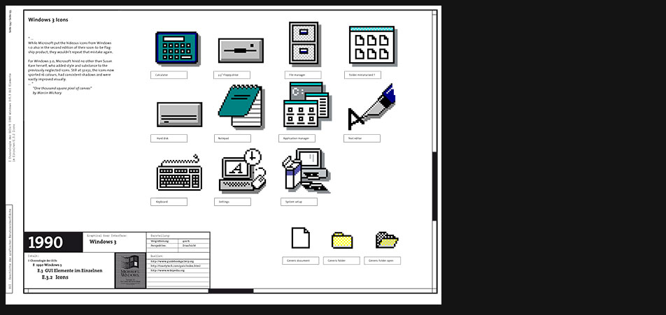 Windows 3 icons