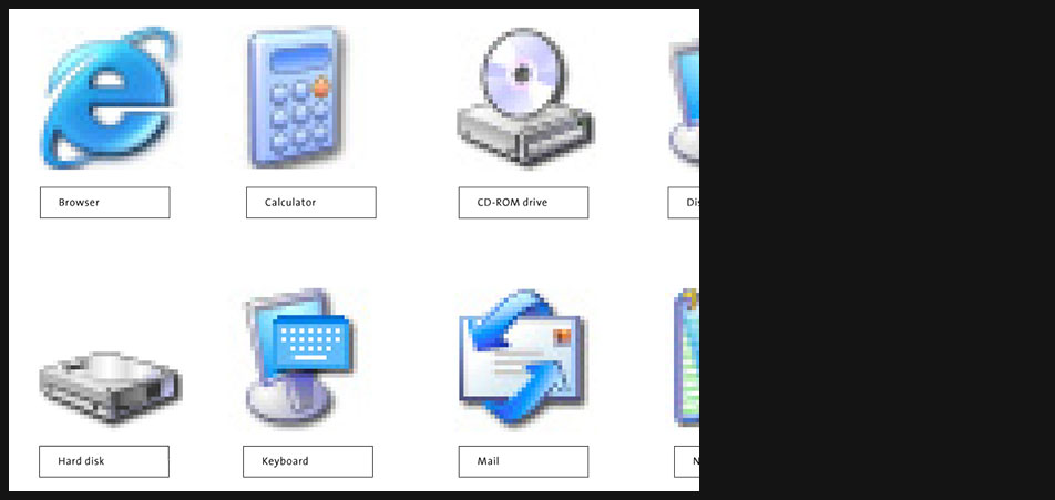 Windows XP icons